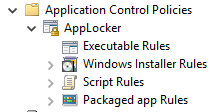 Application Control Policies (screenshot)