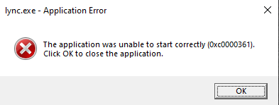 SRP Application error