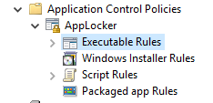 Applocker configuration nodes