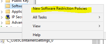 New Software Restriction Policies