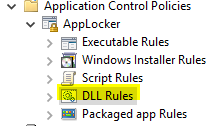 Applocker DLL rules